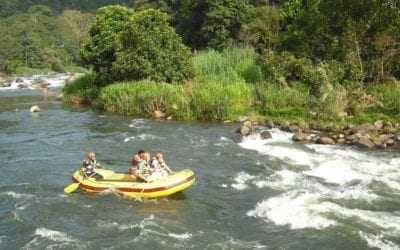 White water rafting at Kitulgala in Sri Lanka